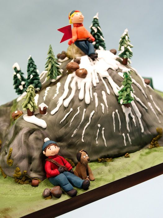 how to make a mountain cake