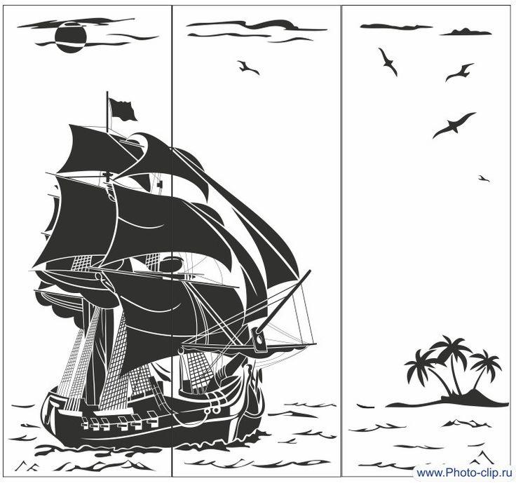Пескоструйный рисунок Парусник №74