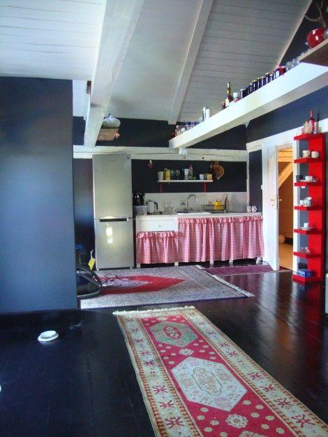 "The ""Black"" apartament in Siedlisko, Warmia, Poland."