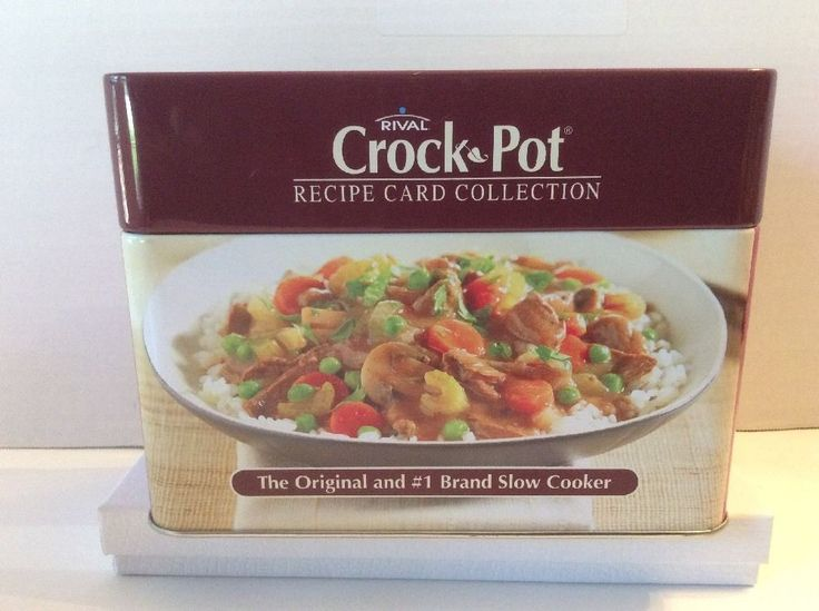 Rival Crock Pot Recipe Card Collection Slow Cooker 76 Recipes | eBay