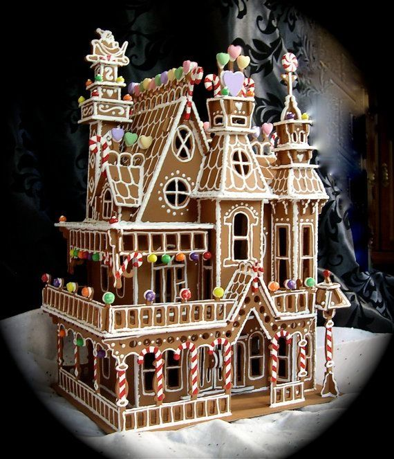 883 best genius gingerbread images on pinterest beverage for Victorian gingerbread house plans
