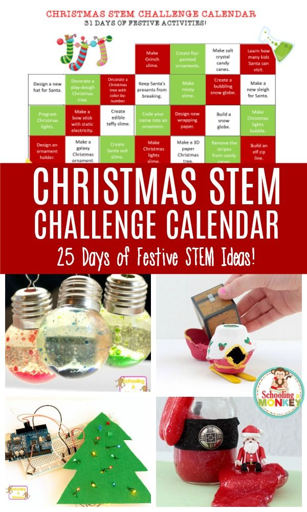 Christmas is a lot more fun when you add STEM! This Christmas STEM challenge calendar makes Christmas a whole new learning experience!