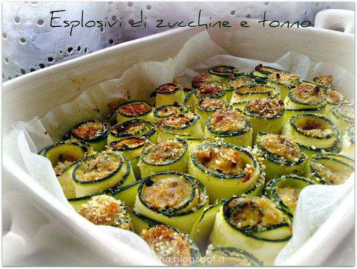 Per un buffet si possono preparare singolarmente infilzati in piccoli spiedini.         Ingredienti:    2 zucchine  160 gr di tonno sgocciol...
