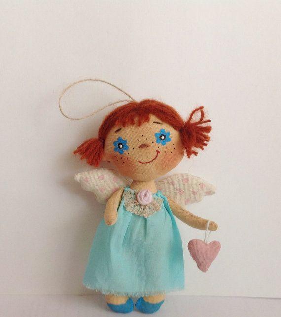 Muñeca muñeca angelito con corazón suave muñeca Angel regalo