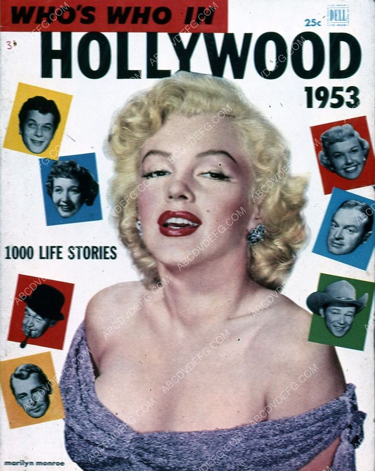 Marilyn Monroe Who's Who in Hollywood magazine cover 35m-5978