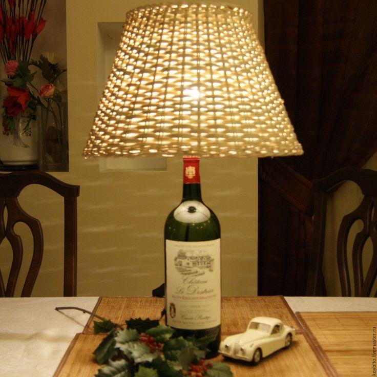 """Светильник настольный """"Винная корзина"""" - лампа, светильник, подарок, интерьер, световое оформление"""