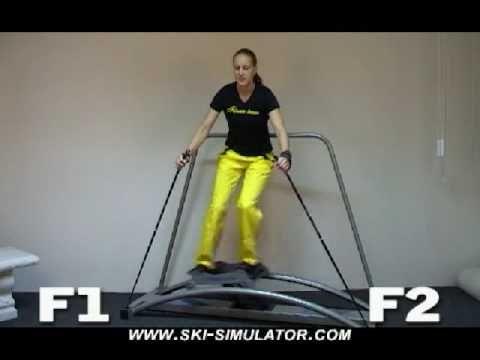 De ski simulator: blijf lekker trainen!  Dat je nu niet meer  zo snel naar de sneeuw gaat, wil niet zeggen dat je stil moet blijven zitten. We hebben altijd de ski simulator nog: een fitness apparaat die ski bewegingen nabootst. Je leert je gewicht te verplaatsen en gebruik te maken van je benen in de bochten. Ook moet je dezelfde houding aanhouden en ga je net zo door je knieën. Je beweegt je heupen in hetzelfde ritme als dat je op de piste zou doen. www.skiwebshop.com