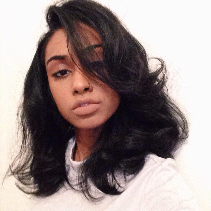 "Good Hair & Co : Versatile Sew -In Install w/ custom Color. Can be achieved with 2 bundles of Good Hair ""Naturally Wavy"" in 16, 18 w/a custom cut"". #begood"