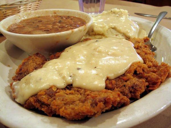 Chicken Fried Steak...Yummy!Dinner, Chicken Fries Steak, Maine Dishes, Food, Beef, Del Rancho, Chickenfriedsteak, Chicken Fried Steak, Hillbilly Recipe