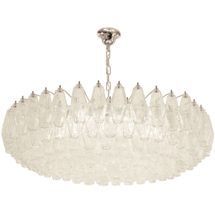 Venini Polyhedral Clear Glass Chandelier - 189 Best Lighting Images On Pinterest Chandeliers, Mid Century