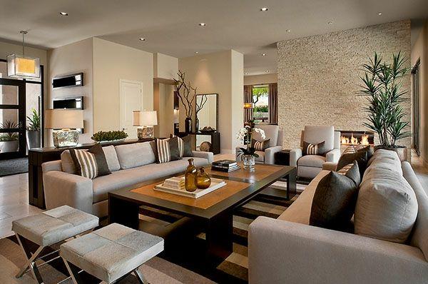 schicke möbel fürs wohnzimmer große sofas dekokissen helle, Wohnzimmer