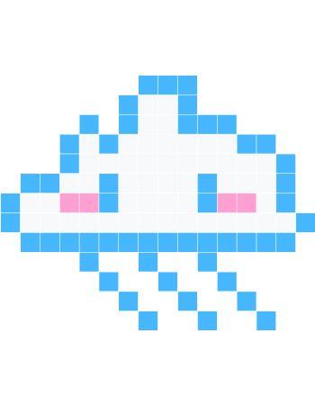 cloud for the kids dessin pixel pixel et pixel art. Black Bedroom Furniture Sets. Home Design Ideas