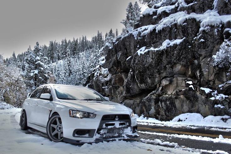 Evo X Snow Mitsubishi evo, Mitsubishi lancer evolution