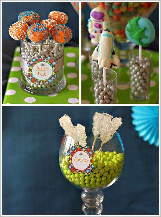 Cute!Ideas Parties, Spaces Parties, Birthday Parties, Rocks Candies, Cake Pop, Parties Ideas, Spaces Birthday, Parties Food, Outer Spaces