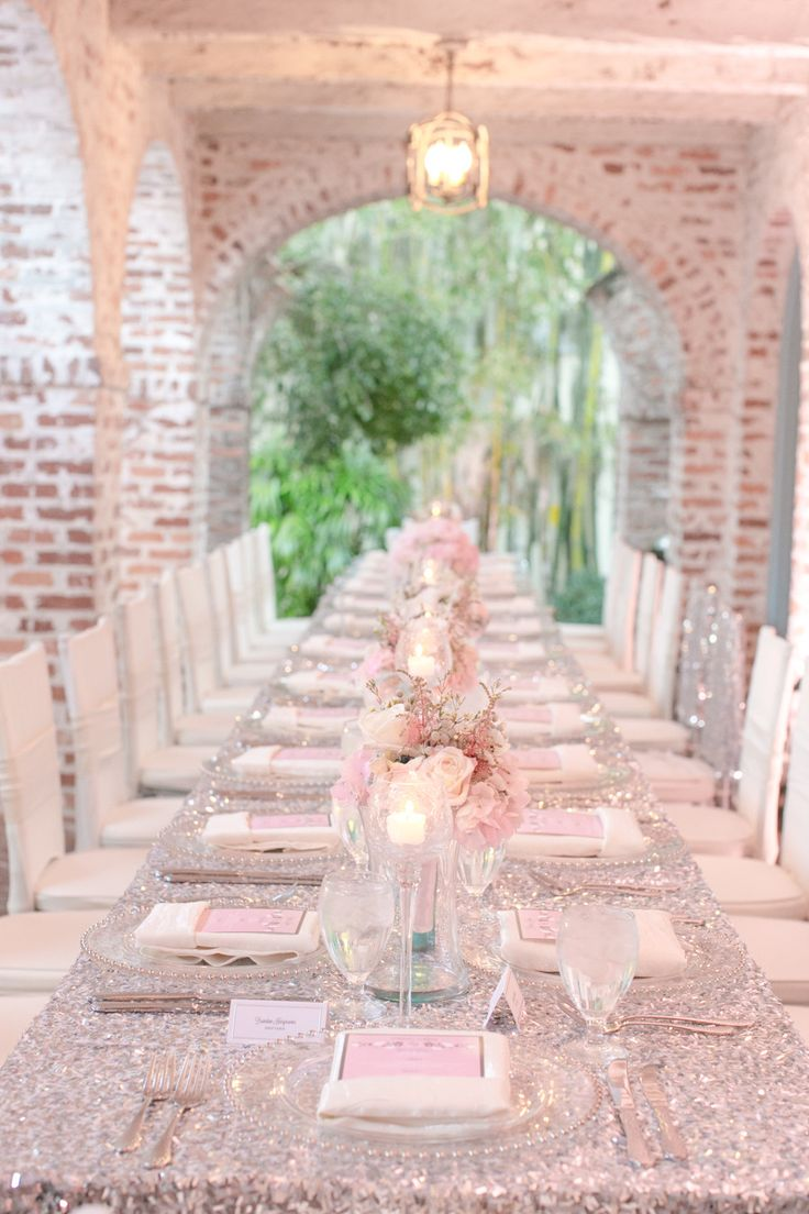 Pink and silver.  LIFE Event Design. Photography: Amalie Orrange Photography - amalieorrangephotography.com