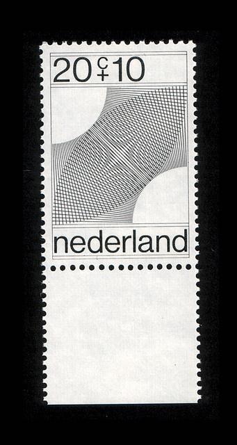 Dutch stamp    Designed by Robert Oxenaar