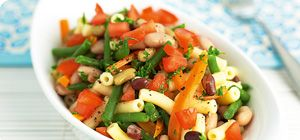 Mixed bean pasta salad