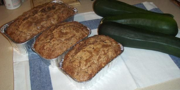 Low Fat Healthy Zucchini Bread from Food.com:   I adapted this recipe from other zucchini bread recipes that just had way too much sugar and oil.  I wanted to really taste the zucchini so I doubled that portion and I used whole wheat flour as well.