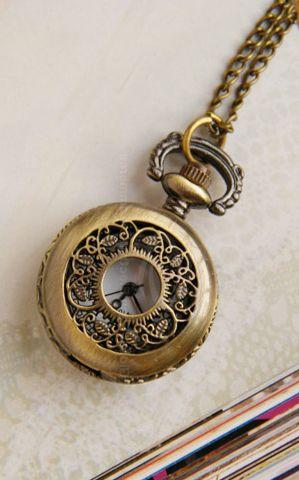 Vintage pocket watch necklace