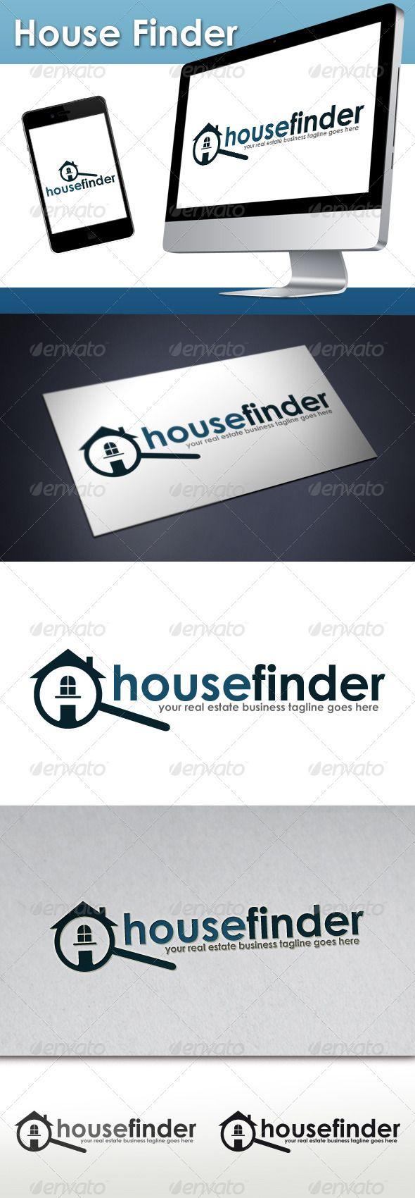 Real Estate House Finder  Logo Design Template Vector #logotype Download it here:  http://graphicriver.net/item/real-estate-house-finder-logo/3217427?s_rank=628?ref=nesto