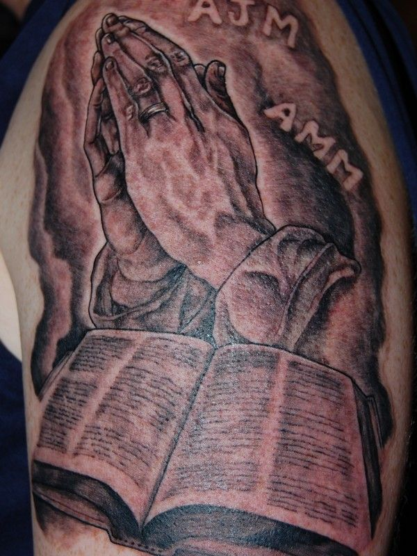 45 Images OF Praying Hands Tattoos - Way to God