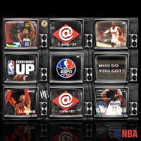 Tonight's NBA on ESPN doubleheader tips off at 7:30pm/et with Indiana Pacers/Miami Heat, followed by Houston Rockets/Minnesota Timberwolves at 10pm/et in Mexico City!   Tonight's Scoreboard: http://on.nba.com/1oMpUXo  Current Standings: http://on.nba.com/1AvKtga