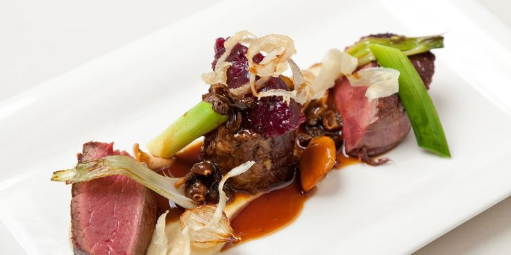 Simon Haigh prepares a lavish beef with oxtail recipe for Great British Chefs.com