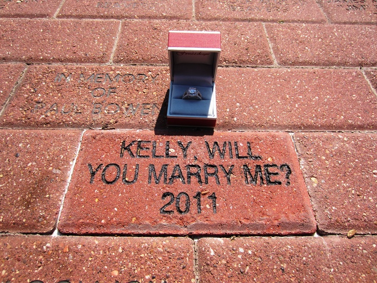 Creative marriage proposal at Baylor University (Burleson Quadrangle): Baylor Bear, Athens Brick, Brick Proposal, College, Baby, Place, Fairytale