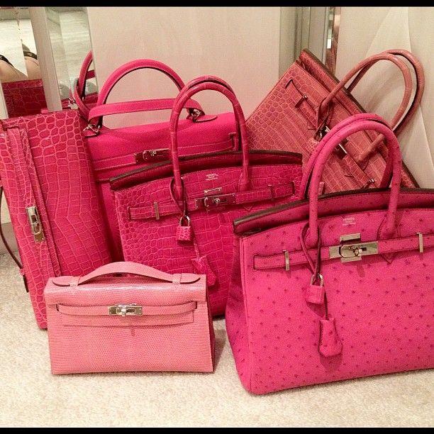 Hermes Birkin Pink Crocodile
