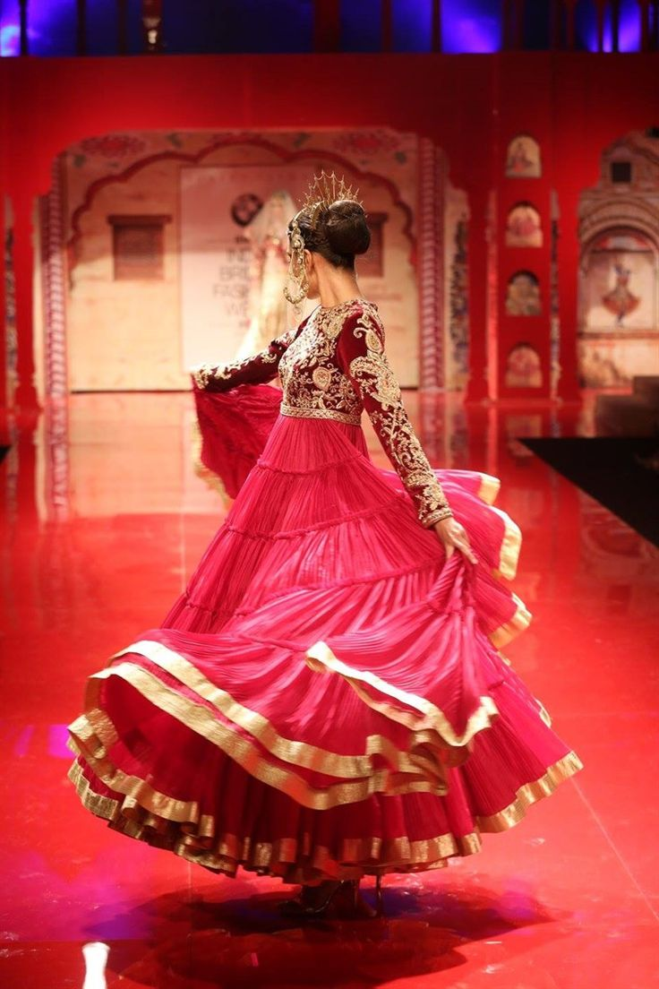 twirling dress, flamenco style   Suneet Varma India Bridal Week 2014 BMW