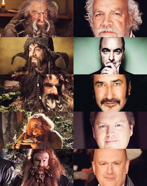 Cast of the Hobbit : John Callen, James Nesbitt, William Kircher, Stephen Hunter and Peter Hambleton :)