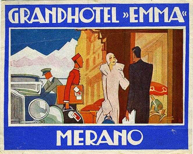 Merano luggage labels (Italy). www.italianways.com/vintage-merano/