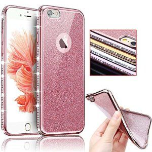 Sunroyal® Bling TPU Coque pour Apple iPhone 6/6S (4.7 pouces) Ultra Mince Paillette Case Cover Telephone Portable Soft Housse Cas Prime…