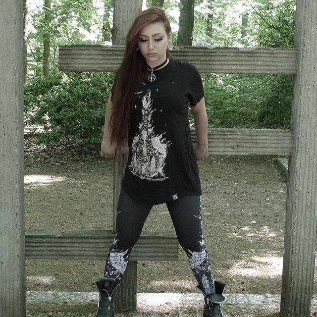 "CRMC X Wirosatan X View from the Coffin ""Aske Til Aske"" Long Tee & CRMC X Wirosatan ""Aske Til Aske"" Leggings Available at www.crmcclothing.co 