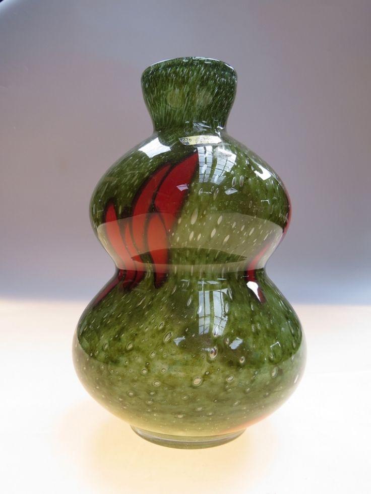Vase, 1970s, glassworks Prachen - Borske sklo, H: 22,0 cm