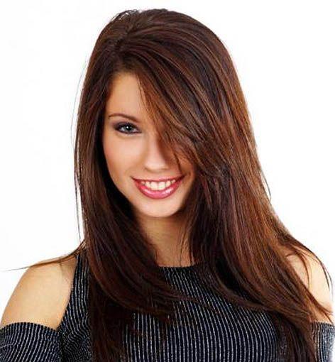 Auburn Mahogany Brown Hair Color