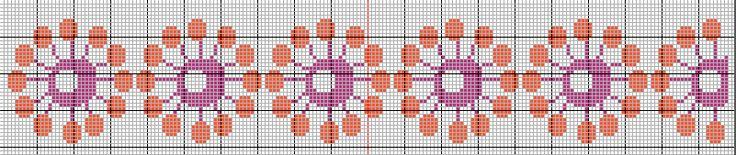 frise point de croix : grille gratuite http://les7joursdhelene.canalblog.com/archives/2015/03/26/31776637.html