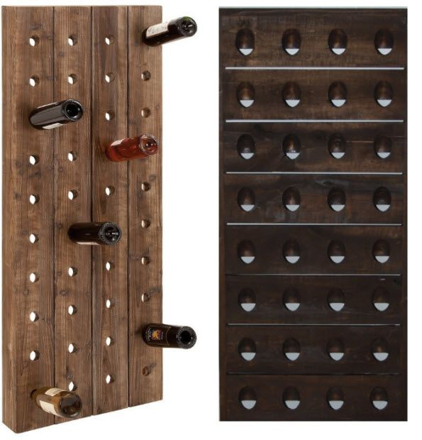 Wooden Wine Rack Wall Mounted Wooden Wine Racks Pictured