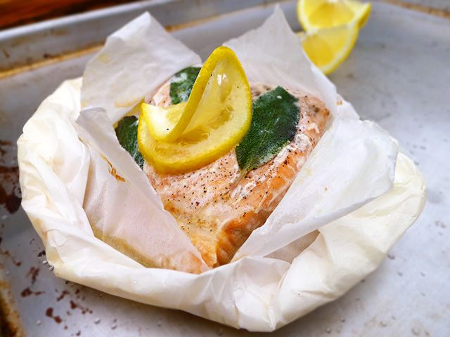 "I love that ""Butter Sage Salmon en Papillote"" sounds so fancy-schmancy, yet to make it is so simple and foolproof."