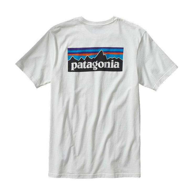 Patagonia Men\'s P-6 Logo Cotton T-Shirt - White WHI