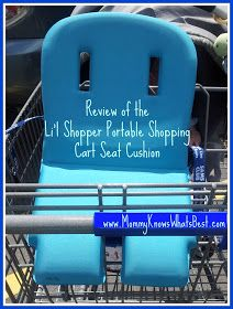 Mommy Knows What's Best: Li'l Shopper Portable Shopping Cart Seat Cushion Review and Giveaway