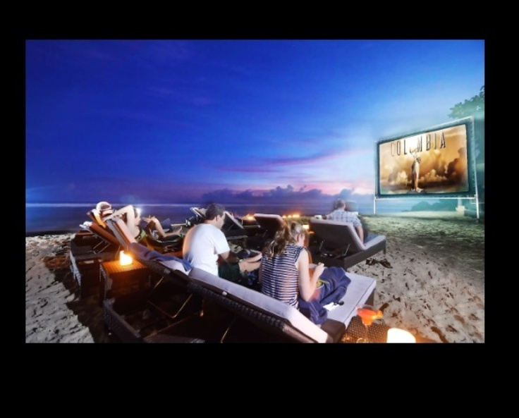 Watch movies on the beach - Nammos beach club, Karma Kandara