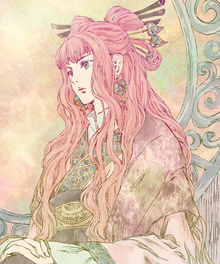 Twelve Kingdoms - Yoko // i'm 99% certain this is fanart of something i don't know, but the style is so pr etty i can't ignore it
