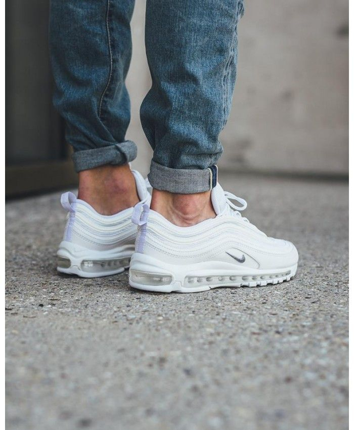 08cdfb6dd7 Nike Air Max 97 triple White Sale Discount | Sneakers in 2019 | Nike ...