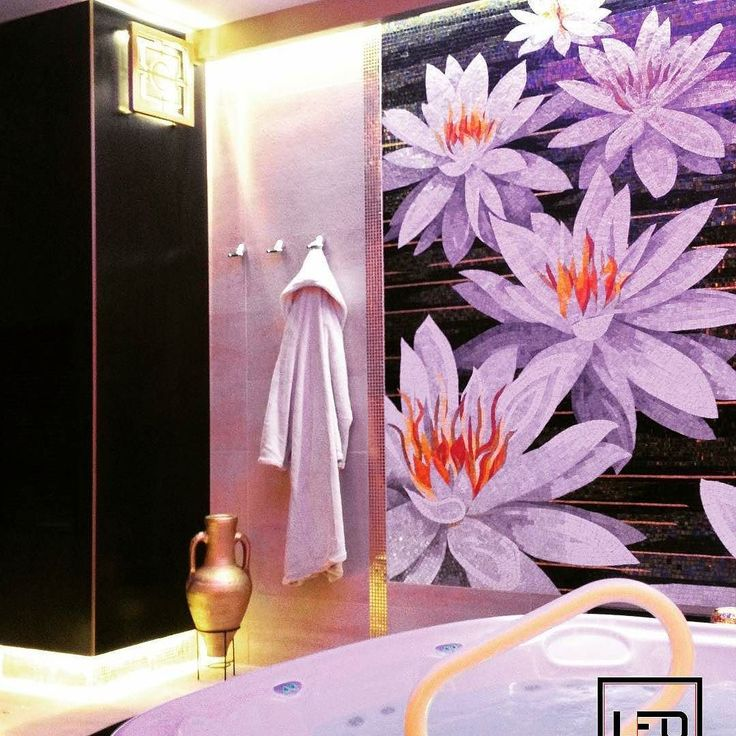 Have a relaxing night bath with this beautiful @sicis_official #Flowerpower #artistic #Mosaic panel! #everythingismosaic #mindenmozaik #mozaik #Sicis @Regranned from @leo_emotionofdesign -  #leoemotion #leoemotionofdesign #interior #interiodesign #traditionalstyle #classicinterior #spa #spastyle #spadesign #spalife #spatrend #sicis #sicismosaic #lotusflower #artmosaic #luxurystyle #luxuryinterior #luxuryspa