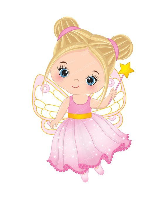 Fairy cute. Little clipart vector princess