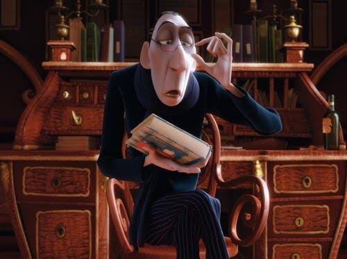 Anton Ego,  en Ratatouille  (producción de Pixar, dirigida por Brad Bird).