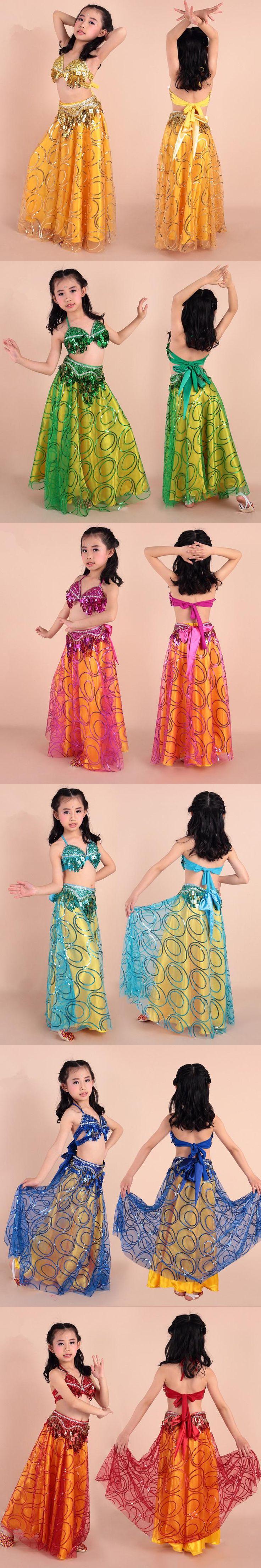 New Arrivals Girl Belly Dance Costume Set danza del vientre Children Bollywood Dance Costumes Children Dance Clothes for Dancer