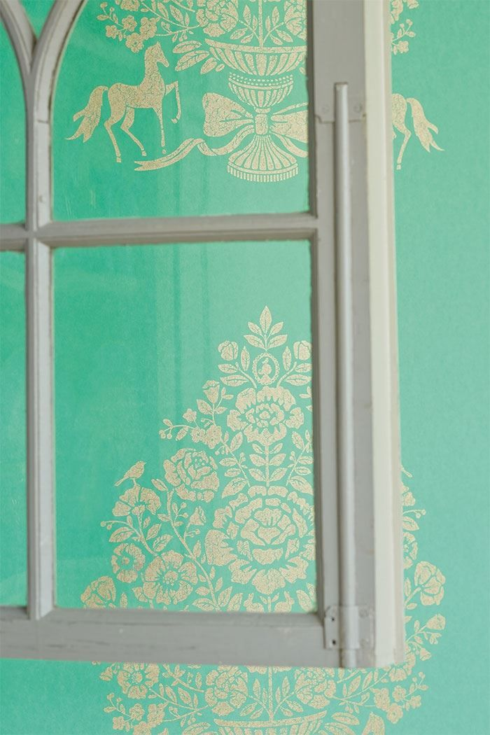 Picture of Pip for President wallpaper mint green