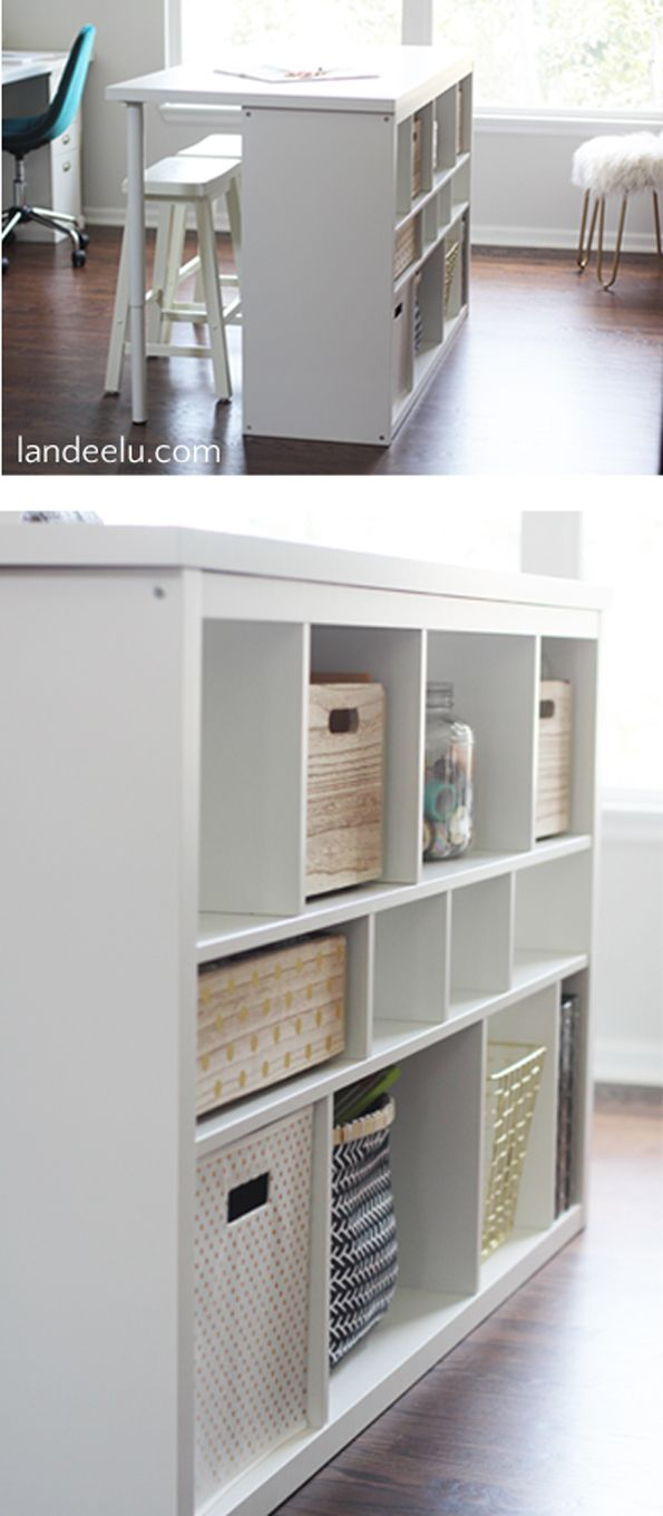 Make your own craft table - Ikea Hack Craft Room Work Table